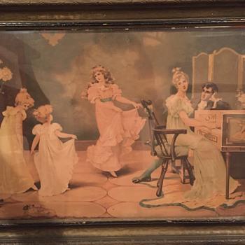 Dancing Girls to Piano Melody - Visual Art