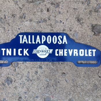 Chevrolet License Topper