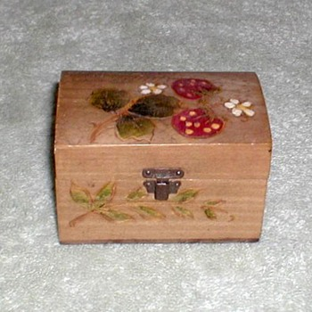 Decorated Wooden Trinket Box - Ottenhofen Germany