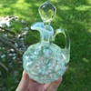 Vintage Northwood Daisy and Fern Cruet with Original Stopper