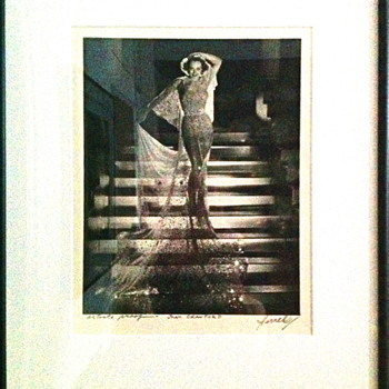 Joan Crawford photo by George Hurrell.     Artist Proof signed one of a kind.