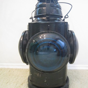 Antique 1930's Handlan St. Louis USA NYC & STL RR Switch Railroad Lantern