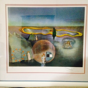 Salvador Dali signed lithograph #77 of 300. No Title - Visual Art