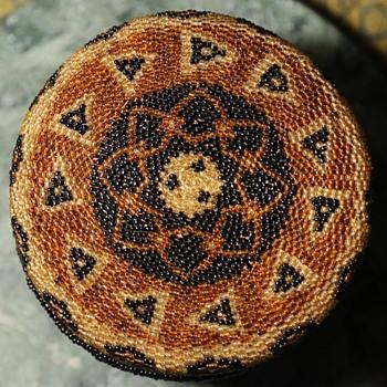 Balinese Beaded Basket - Folk Art