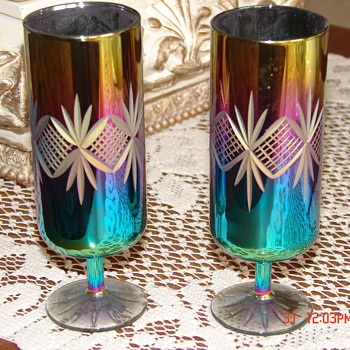 Unknown Russian  Iridescent Glasses - Glassware