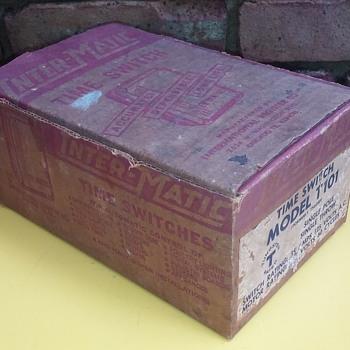 old INTERMATIC TIME SWITCH in its original cardboard box