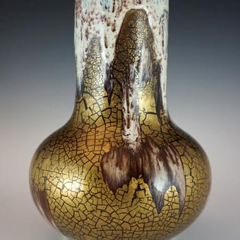 Rare (c.1908-1911) Louis Franchet Ceramic Vase w/ Unusual Glaze - Art Nouveau