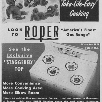 1950 Roper Gas Range Advertisement - Advertising