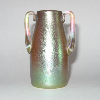 2-handled Loetz Candia Silberiris vase - Art Nouveau