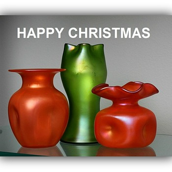 Happy Holidays - Art Glass