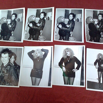 Sid Vicious & Nancy Spungen press Photos original 1978 Pierre Benain - Music