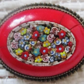 Micro Mosaic Millefleur brooch - Fine Jewelry
