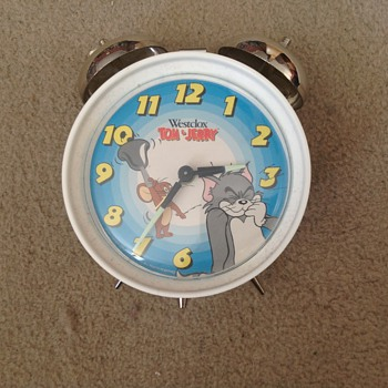 1995 Westclox Tom & Jerry alarm clock.