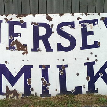 Porcelain Jersey Milk Sign - Advertising