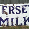 Porcelain Jersey Milk Sign