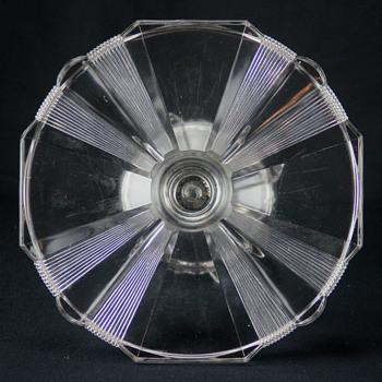 Adams & Co. 'Clear Ribbon' cake stand c1881