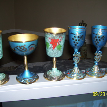 ?wine goblets manor made in israel