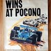 """Vintage """"Sunoco wins at Pocono"""" Poster- 1971"""