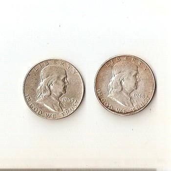First and Last Franklin Half Dollars - US Coins