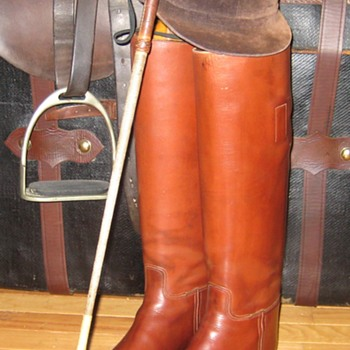 Vintage Manfield & Sons Equestrian Bespoke Riding Boots