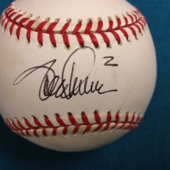 Unknown Autographed baseball