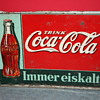 coca cola german tin sign