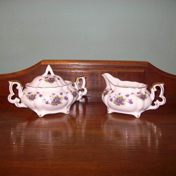 "Beautiful ""Leffon"" China Cream & Sugar Bowl - China and Dinnerware"