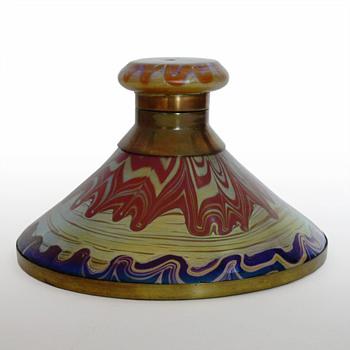 Lötz inkwell Phänomen Gre. 358 , Franz Hofstötter, ca. 1900 - Art Glass