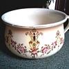 """S. Fielding & Co. (Crown Devon) 9"""" Chamber Pot /Devonware """"Etna"""" Pattern / Circa 1911"""