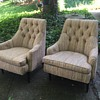 Dunbar style mid century modern club chairs - James mont, gio ponti?