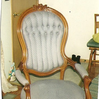 Fine Eastlake rocker nicely restored. Victorian Chair restored
