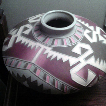 Beautiful Vase  with designs  - Art Pottery