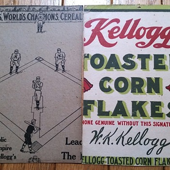 1910 Kelloggs World Champions - The First Sports Related Cereal Box - Baseball