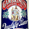 Early 1900's Gambrinus Beer Enamel Sign