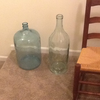Old bottles tall