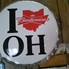 i love oh Budweiser sign
