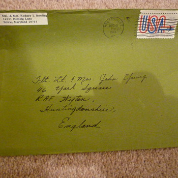 American Forces envelope. 1969 - Stamps