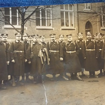 Vintage Foreign (German?) Military Photograph Postcard - Postcards