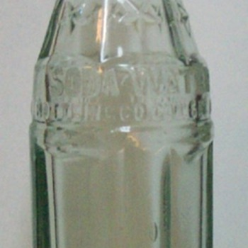 "Coca-Cola ""Soda Water"" Glass Bottle 6oz."