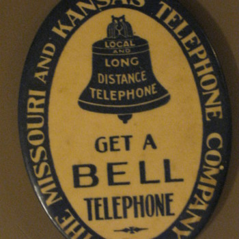 Missouri &amp; Kansas Telephone Pocket Mirror - Telephones