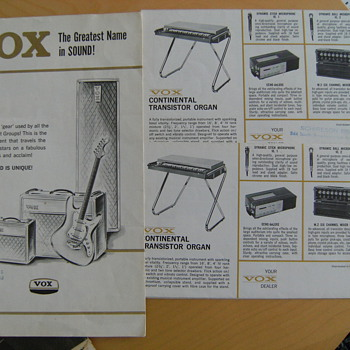 Vintage Vox Catalogs - Guitars