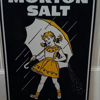 MORTONS SALT ADVERTISEMENT TIN - Advertising
