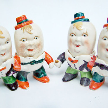 Vintage Salt and Pepper Shakers Occupied Japan RARE Ardalt Humpty Dumpty Shakers