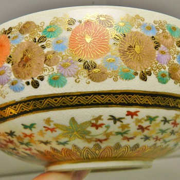 Japanese Meiji-Era Satsuma &quot;1000 Butterflies&quot; Bowl