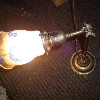 A very old electric lamp
