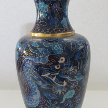 Cloisonne Vase - With Dragons - Asian
