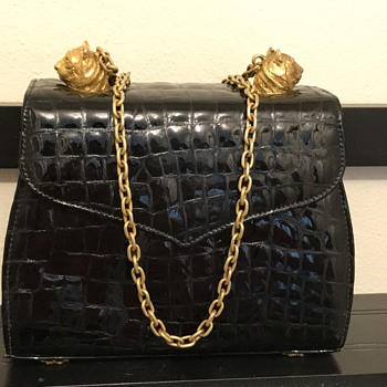 My favorite black and gold leather bag
