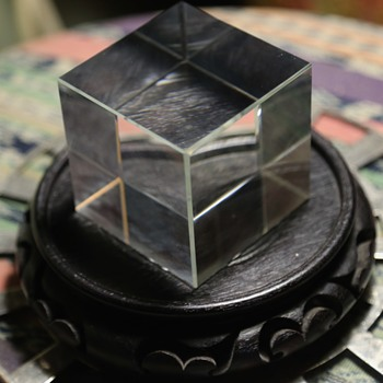 A Perfect Crystal Cube - Art Glass