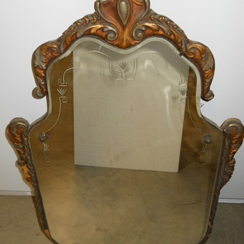Vintage Victorian Mirror - Furniture