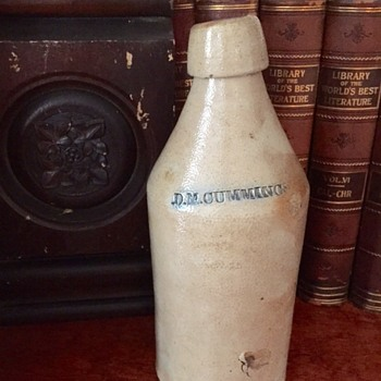 Stoneware Soda Bottle